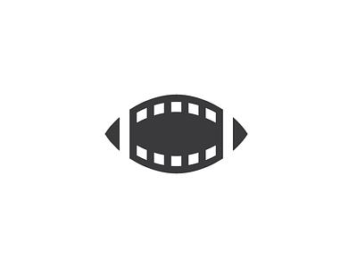 Football x Cinema logo identity movie cinema football sport
