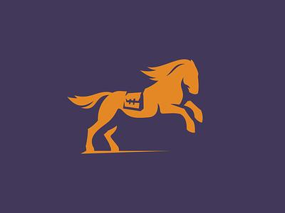 Stallion identity animal stallion horse express delivery logo