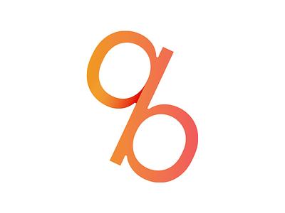 Percentage b a ab finance accountant branding logo