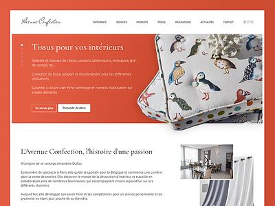 Cushions website web ui homepage designer interior cushion fashion design