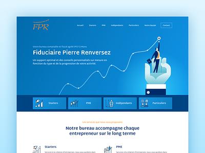 Fiduciary landing accounting finance blue interface user ui design web