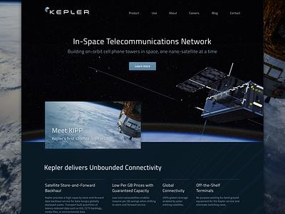 Satellite ui space landing web satellite