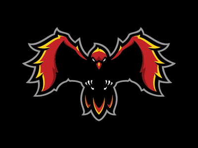Phoenix esport logo fire animal bird phoenix