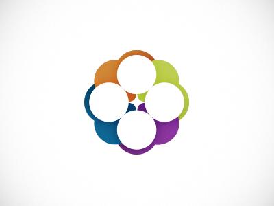 Circles Logo logo circle simple tetrad colorful branding