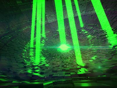 Super Laser green sci-fi laser death star indigo render star wars 3d cinema 4d