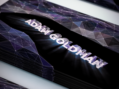 My new card  generative adam gman after effects motion graphics plexus c4d cinema 4d business card