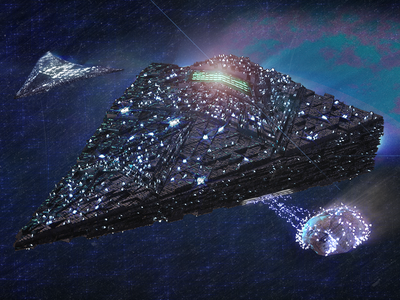 Asteroid Miners glow glowing meteor asteroid science fiction sci-fi blue space after effects photoshop cinema 4d c4d