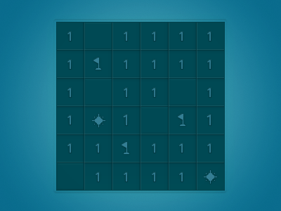 Simple Minesweeper minesweeper simple blue ui