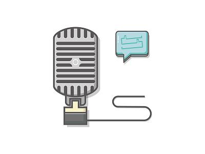 Broadcast illustration icon