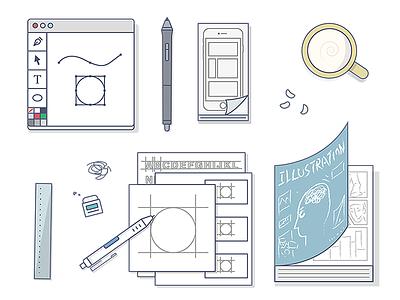 My Work ui design graphic designer icon illustration