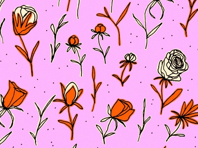 Some Cute Flowers pattern sketch blooms flowers drawing illustration colors