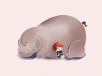 teacher pillow illustration daughter character dog cartoon