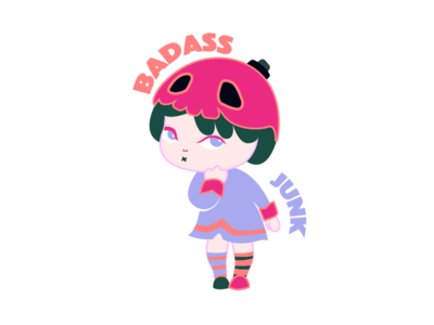 Harmful garbage girl@Minii garbage girl illustration minii character daughter cartoon