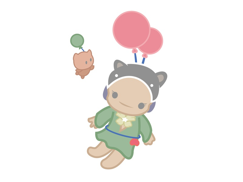 cat hat girl@Minii minii girl illustration daughter character hat cat cartoon