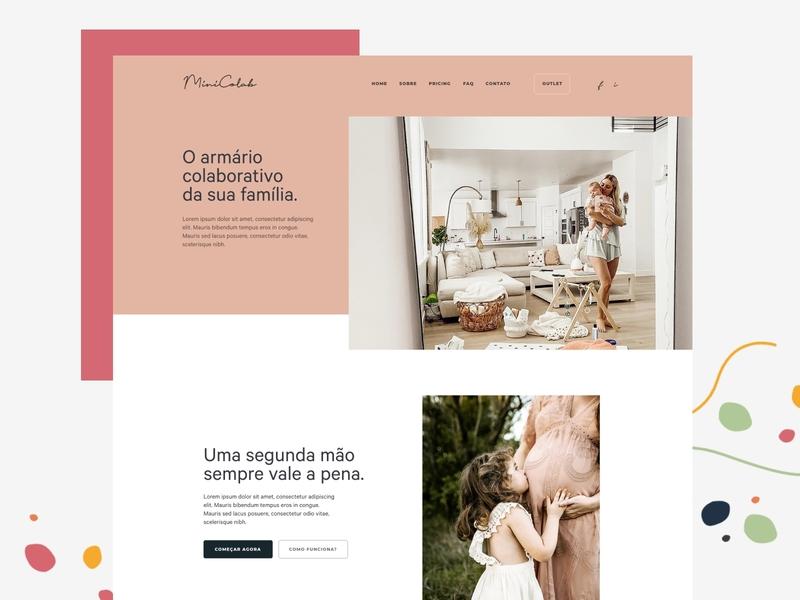 Minicolab home front-end kids concept website web design web