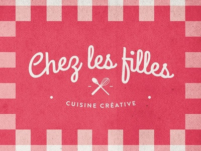 Chez les filles - Creative Cooking branding girl pink kitchen food logo cooking