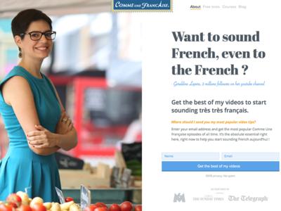 Landing Page - Comme une française