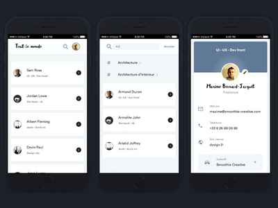 Shared contact list - Proto V1 to test on Invision
