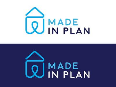 Made in Plan - Branding golden circle minimalist moon loop line chart logo branding