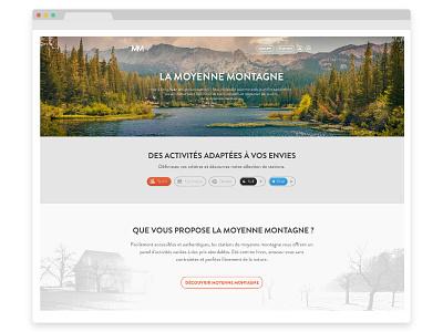 Moyenne montagne flat mountain gradient wordpress webdesign