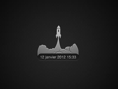 Simple web clock design clock web design ui dark chrome hour widget
