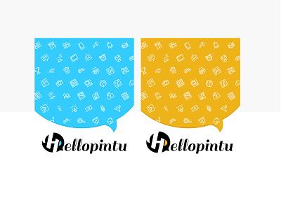 Hellopintu logo design vector india pattern illustration flatdesign colorful userinterface branding design brand identity branding chatbot social chat logo design logo