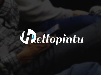 Hellopintu logo design bird tweet chat hyperlocal graphic logo