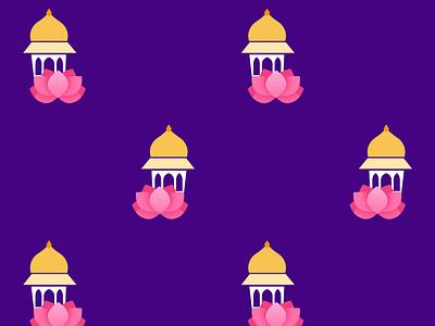 Lotus Pattern purple pink architecture pattern floral flower lotus