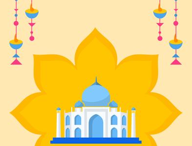 Lotus Taj Mahal Poster