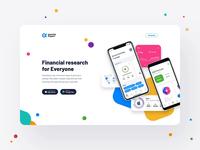 Genuine Impact, Fintech App - landing page animation