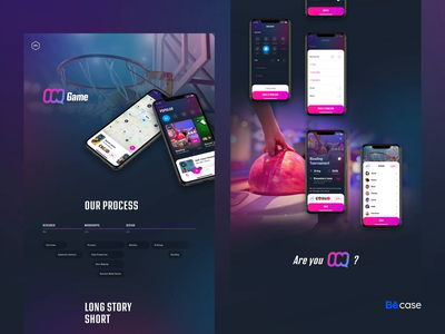 InGame, Sport events - Behance case study animation ux design user interface sport social surveys workshops case study behance shadows navigation mobile app input graphic design gradients form flat design event details page design