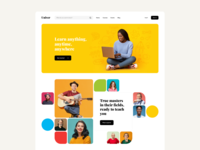 Online Learning Platform - Landing page concept tutor kids students courses for kids home school online school colorfull hero mage web design teachers school education elearning landing page online course learning platform edtech web web app