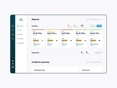 Autium - Dashboard animation saas drivers web app web animation interaction microinteraction dashboard management pie chart chart data filters calendar form navigation fleet cars table bar chart