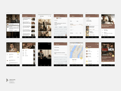 Material Design UI Kit freebie gallery navigation reading map tabs feed form profile calendar photoshop user interface freebies graphic design mobile app android material design ui kit