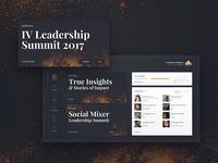 Leadership Summit - event dashboard concept