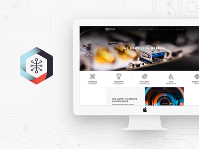 Antmicro's website - Home page icon design landing page graphic design website web design flat design technology sketch