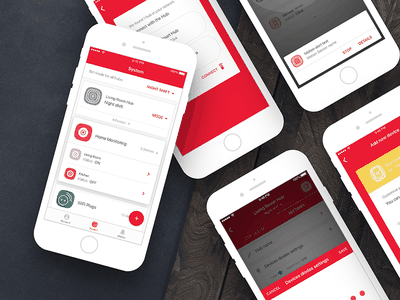 Ferguson Smart Home iOS & Android wizard sign in settings material design android sketch light smart home dashboard ios ux design user interface mobile app graphic design