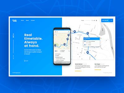 Kiedy Jadę - concept landing page navigation landing page concept design map flat design web design website mobile app graphic design travel white sketch