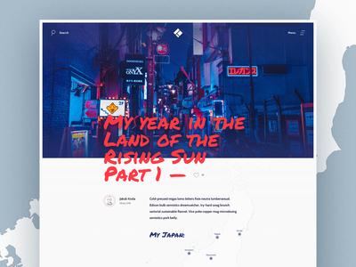 Travel Blog - concept design