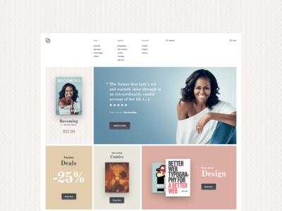 Bookstore Home Page - concept design