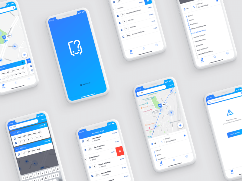 Kiedy Jadę iOS map feed filters splash screen search flat  design ios sketch travel ux design user interface graphic design mobile app