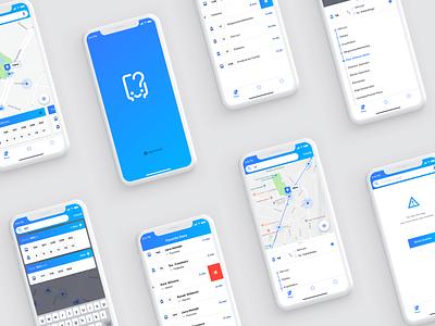 Kiedy Jadę iOS map feed filters splash screen search flat  design ios sketch travel ux design user interface graphic design mobile app