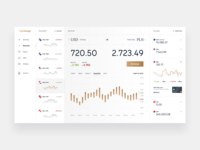 Currency Exchange - dashboard concept