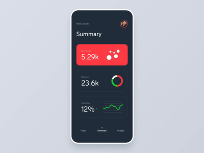 Home Budget - concept iOS app