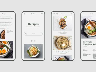 Recipes -  concept iOS app