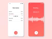 Voice memo app