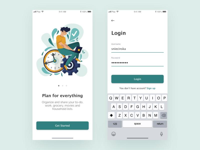 Login - dailyUI dailyui001 dailyui ui  ux uidesign adobe xd simple design iphone app ios app concept ux user inteface user experience design illustration ui app