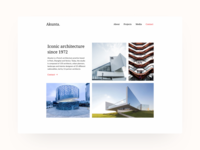 Super minimalistic architecture studio website