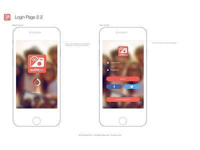 Outfitpic 1.0 Concept javascript angular mobile app cordova ionic design ui ux