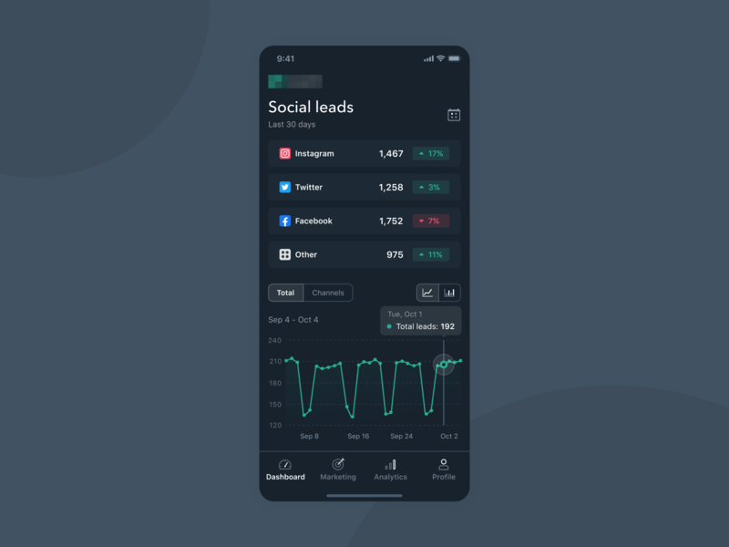 Mobile App Marketing Dashboard producthow clean modern dark marketing interface dashboard ui ux design product design ios mobile app